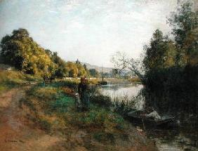 The Banks of the Marne, Return of the Fisherman c.1907 ste