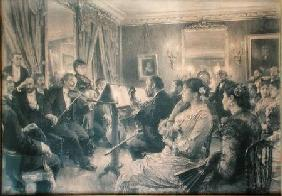The Quartet or The Musical Evening at the House of Amaury Duval 1881