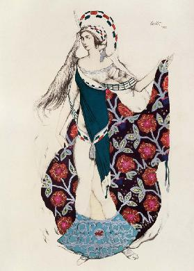 Costume design for a woman, from Judith 1922