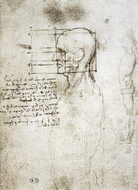 Head of an Old Man in Profile, facsimile copy  and