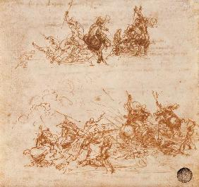 Study for the Battle of Anghiari 1504-5