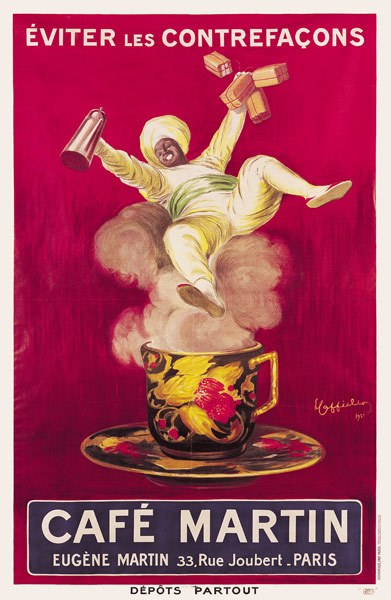 Poster Advertising Cafe Martin Leonetto Cappiello Als Kunstdruck
