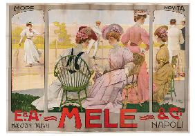 Advertising poster for the Mele Department Store of Naples 1907