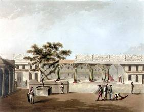 North Front of Tippoo's Palace, Bangalore, plate 9 from 'Pictorial Scenery in the Kingdom of Mysore' 1804