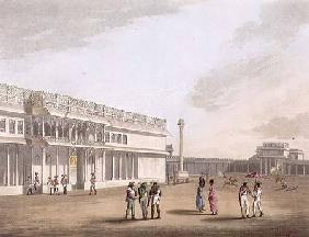 The Square and Entrance into Tippoo's Palace, Bangalore, plate 12 from 'Pictorial Scenery in the Kin 1804