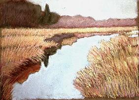 Full Tide, 1990 (pastel on paper)