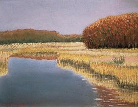 New England Autumn, 1990 (pastel on paper)