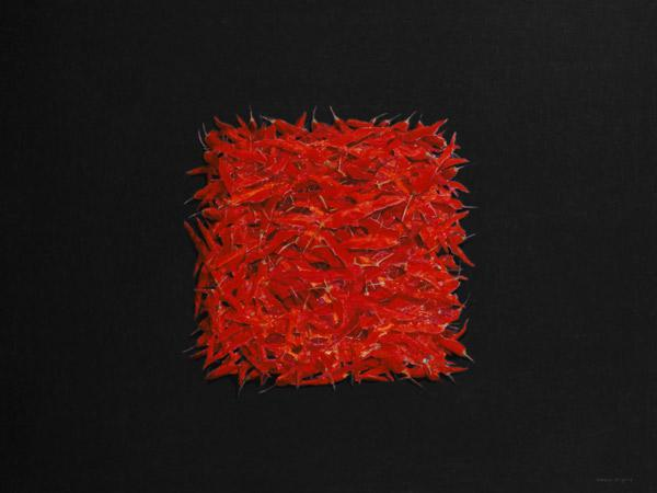 Chillies (oil on canvas)