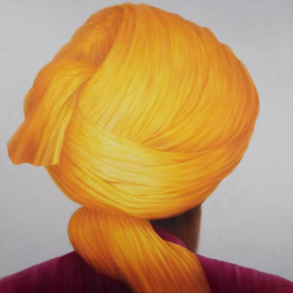 Big Saffron Turban