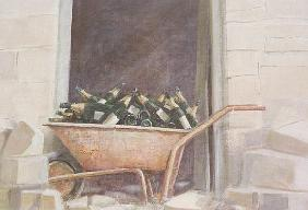 Champagne Wheelbarrow, 1985 (acrylic on canvas)