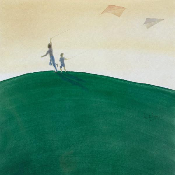 Kite Flying, 2000 (w/c on paper)