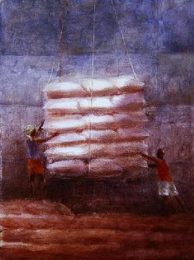 Loading Cargo (oil on canvas)