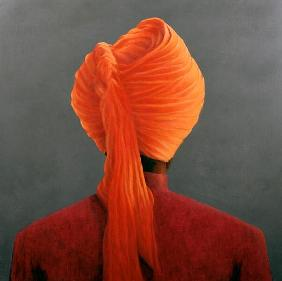 Orange Turban (oil on canvas)