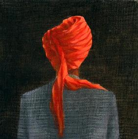 Red turban, 2004 (acrylic on canvas)