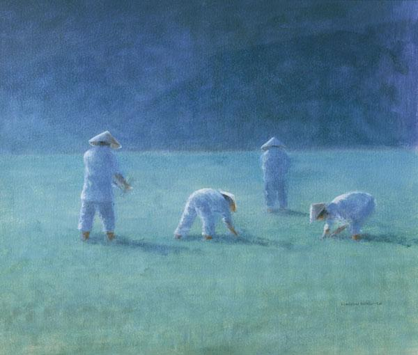 Rice Farmers (oil on canvas)