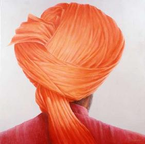Saffron Turban (oil on canvas)