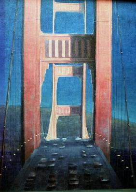 The Golden Gate Bridge, 1992 (acrylic on canvas)