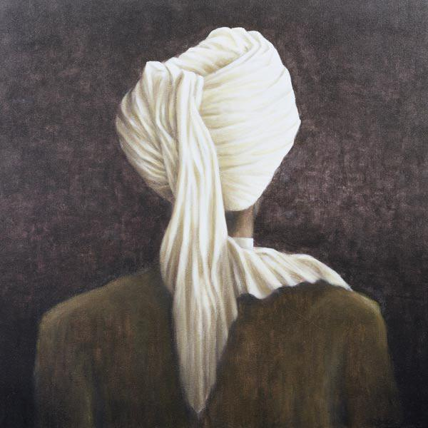 White turban, 2005 (acrylic on canvas)