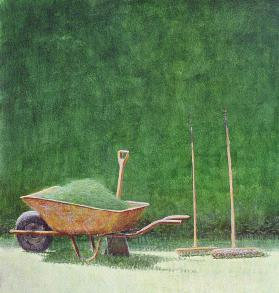 Gardening Still Life, 1985 (acrylic on paper)