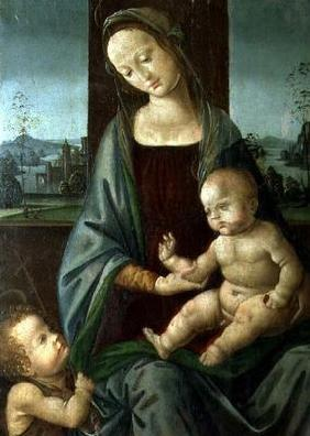 Madonna and Child with the Infant St. John the Baptist 19th