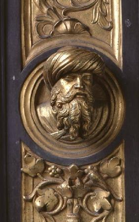 Male head, roundel from the frame of the Gates of Paradise (East doors) roundel fr