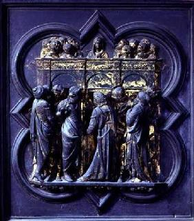 Pentecost, twentieth panel of the North Doors of the Baptistery of San Giovanni 1403-24