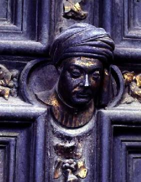 Self Portrait, fifth head from the top on the left door of the North Doors of the Baptistery of San 1403-24