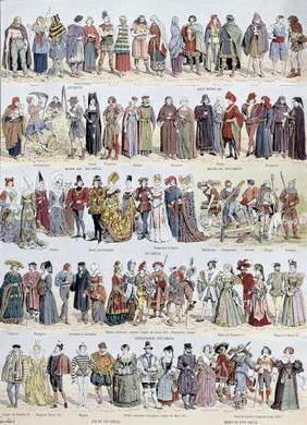 Pictorial history of clothing in Ancient Gaul and in France up to the beginning of the seventeenth c 1843