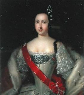 Portrait of Princess Anna (1718-46), the Mother of Emperor Ivan VI (1740-64) after 1733
