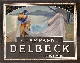 Advertisement for Champagne Delbeck, printed by Camis, Paris c.1910