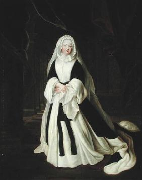 Portrait of Louis-Francoise de Bourbon (1673-1743) Mademoiselle de Nantes in Mourning Clothes after 1710