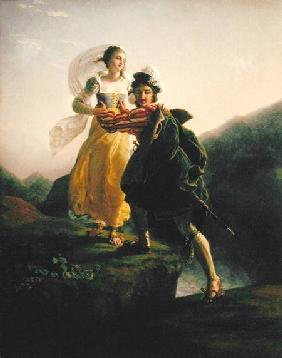Bianca Cappello (c.1542-87) Fleeing with her lover Francesco de Medici (1541-87)