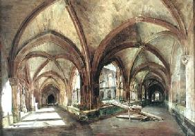 View of the cloister of Saint-Wandrille c.1825-30