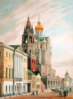 The Assumption Church at Pokrovskaya street in Moscow, printed by Lemercier, Paris 1840s