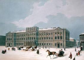 Palace of the Grand Duke of Leuchtenberg in St. Petersburg, printed by Lemercier, Paris 1840s