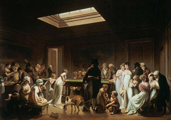 Im billard salon louis l opold boilly als kunstdruck for Billard salon
