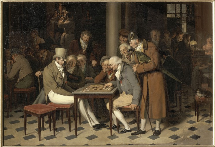 Interieur des Café (La partie de dames a - Louis-Léopold Boilly als ...