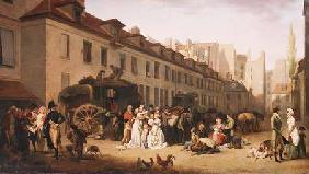 The Arrival of a Stagecoach at the Terminus, rue Notre-Dame-des-Victoires, Paris 1803