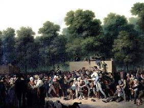 The Distribution of Food and Wine on the Champs-Elysees 1822