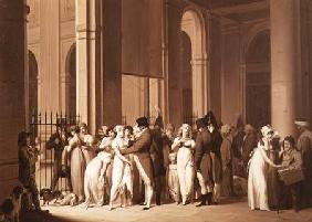 The Galleries of the Palais Royal, Paris 1809