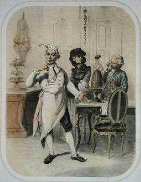 Pride in the Kitchen, from a series of prints depicting the Seven Deadly Sins c.1850