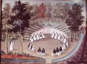 Nuns Meeting in Solitude, from 'L'Abbaye de Port-Royal' c.1710