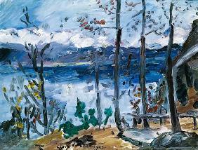 Kunstdruck von Lovis Corinth - Ostern am Walchensee