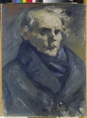 Kunstdruck von Lovis Corinth - Bildnis des Malers Bernt Grönvold.