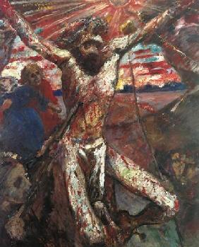 Kunstdruck von Lovis Corinth - Der rote Christus.