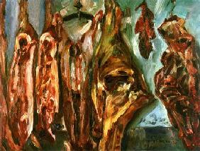 Kunstdruck von Lovis Corinth - Fleischerladen