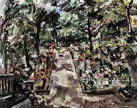 Kunstdruck von Lovis Corinth - Garten in Berlin-Westend.