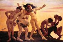 Kunstdruck von Lovis Corinth - Heimkehrende Bacchanten