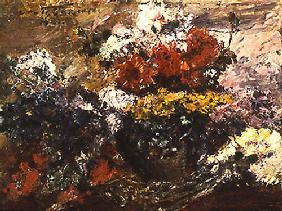 Kunstdruck von Lovis Corinth - Herbstblumen
