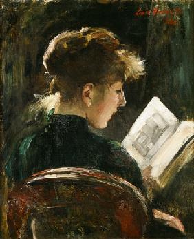 Kunstdruck von Lovis Corinth - Lesendes Mädchen